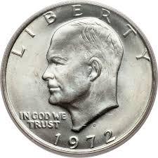 1972 Eisenhower Silver Dollar Value Chart 1972 D 1 Ms Eisenhower Dollars Ngc