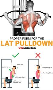 4 Lat Pull Down Exercises For A Defined Back Gym Workout
