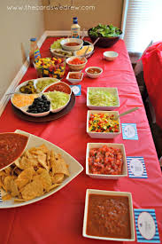 taco bar ideas | The hostess opted for a fun taco bar with three different  meat