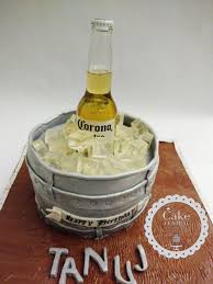Beer Bottle In Ice Bucket Themed Birthday Cake Cake Central