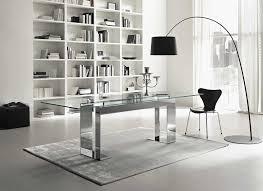 contemporary office desk glass. Furniture Modern Office Desk Glass Pretty Home Contemporary