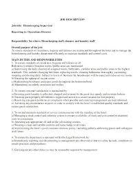 Hospital Housekeeping Resume Sample Resume For Hospital Job Great