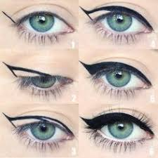 photo tutorial on how to draw kitty cat eyeliner