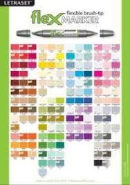 Letraset Flexmarker Colour Chart Letraset Flexmarker