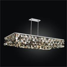 large rectangular chandelier with mother of pearl montego bay 633qd52sp