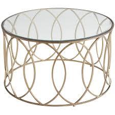 elana bronze iron round coffee table  pier  imports