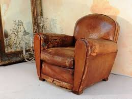 leather club chairs vintage for popular antique french club leather chair club chair