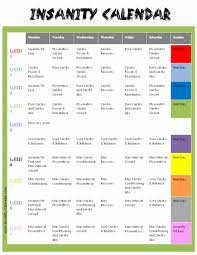 insanity workout calendar insanity calendar