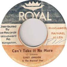 Carey Johnson - Can't Take It No More (1974, Vinyl) | Discogs