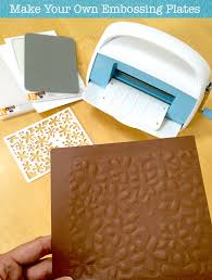 make your own embossing plates diy