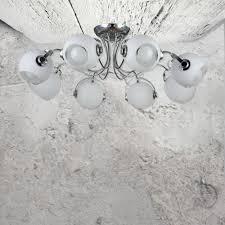 modern chrome 8 light flush