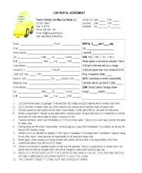 Car Rental Agreement Sample Interesting Lease To Own Car Agreement New Rent Form Awesome Letter Template
