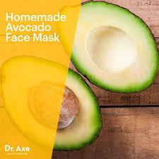 homemade avocado face mask dr axe