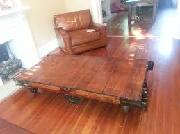 Industrial Factory Cart Coffee Table Antique Factory Carts Wunderwoods