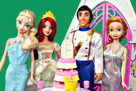 Small Picture Barbie WEDDING Chapel FROZEN Elsa Anna go to Ariel and Eric
