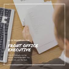Top 10 Front Office Executive Resume Formats Cv Samples