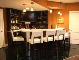 Small Corner Bar Decorations Comfortable Corner Basement Home Bar Design With