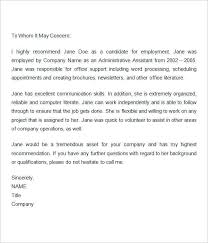 Letter Of Recommendation Word Recommendation Letter For Job