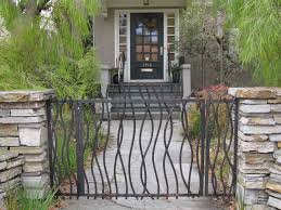 garden fair image of and home exterior decoration using decorative black metal gate including light grey stone wall wood glass single front doors marvelous