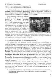 Tema 2 La Revoluci N Industrial