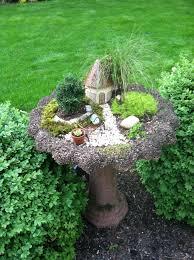 Bird Bath Garden Design My Fairy Garden In A Bird Bath Bird Bath Garden Fairy