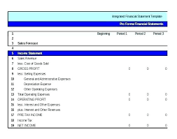 5 Year Pro Forma Template Excel
