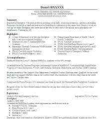 Firefighter Resume Templates Impressive Firefighter Resume Templates Paramedic Resume Template Firefighter