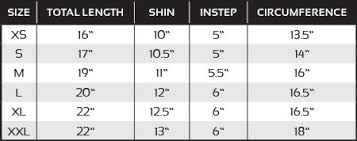 Shin Pad Size Chart Cloth Shin And Instep Pad White