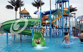 china gaint fiberglass water house aqua park with water slide for family fun supplier