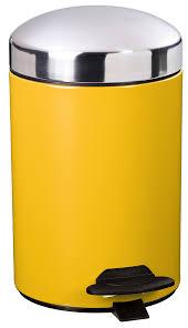 toilets bonny pedal bin 3l mustard