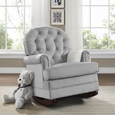 com baby relax brielle on tufted upholstered rocker gray baby
