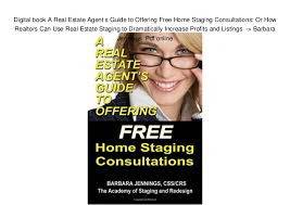 Digital Book A Real Estate Agent S Guide To Offering Free Home Stagin