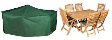 bosmere premier 237cm x 200cm 6 seater green rectangular patio set garden furniture cover 99 99