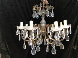 an italian antique eight light chandelier