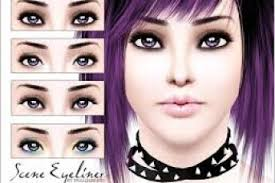 pralinesims scene eyeliner emo eye makeup emo makeup tutorial tips
