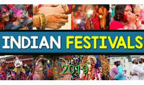 Hindu Festival Chart Calendar 2019 Of India In Hindi Holidays And Festivals In