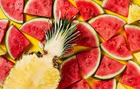 pineapple and watermelon wallpaper. photo wallpaper watermelon, fruits, pineapple, fruit, watermelon pineapple and