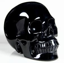 black obsidian crystal skull pendant