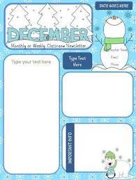 Monthly Newsletter Template For Teachers Preschool Newsletter Templates Teachers