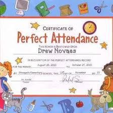 free perfect attendance certificate perfect attendance certificate best 2907311040027 free perfect