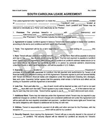 Generic Residential Lease Agreement Custom South Carolina Residential Lease Agreement Create Download