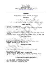 Healthcare Medical Resume Sample Radiologic Technologist Sample