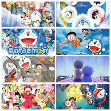 Poster Doraemon Chú mèo máy đến từ tương lai anime chibi tranh treo album  ảnh in