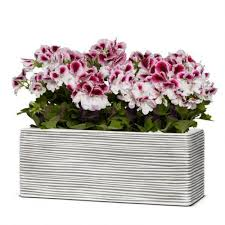 <b>Кашпо Capi</b> Nature Planter Rectangle <b>Rib</b> Ivory