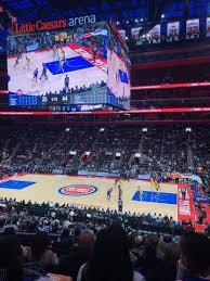 Detroit Pistons Seating Chart Little Caesars Arena Little Caesars Arena Section 119 Home Of Detroit Pistons