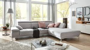 Interliving Sofa Serie 4251 Eckkombination Grauer Bezug Steel Metallfüße Stellfläche Ca 300 X 225 Cm