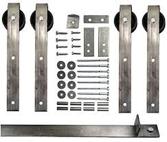 double sliding barn door hardware kit with 9 ft track included made in usa