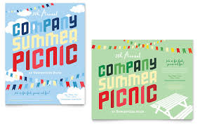Picnic Flyer Template Word Company Summer Picnic Poster Template