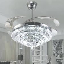 ceiling fan with crystal chandelier light kit led crystal chandelier fan lights invisible fan crystal lights