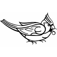 Small Picture Cardinal Bird With Berry Coloring Page